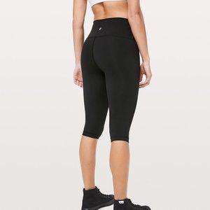 Lululemon Basic Black Capri Workout Leggings